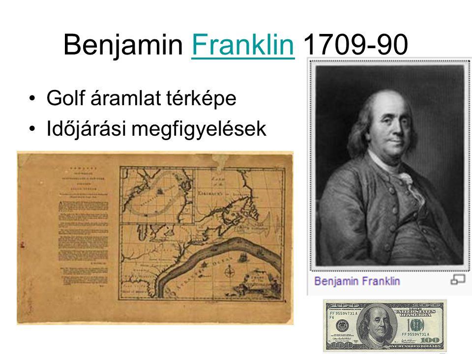 Benjamin Franklin 1709-90Franklin Golf áramlat térképe Időjárási megfigyelések