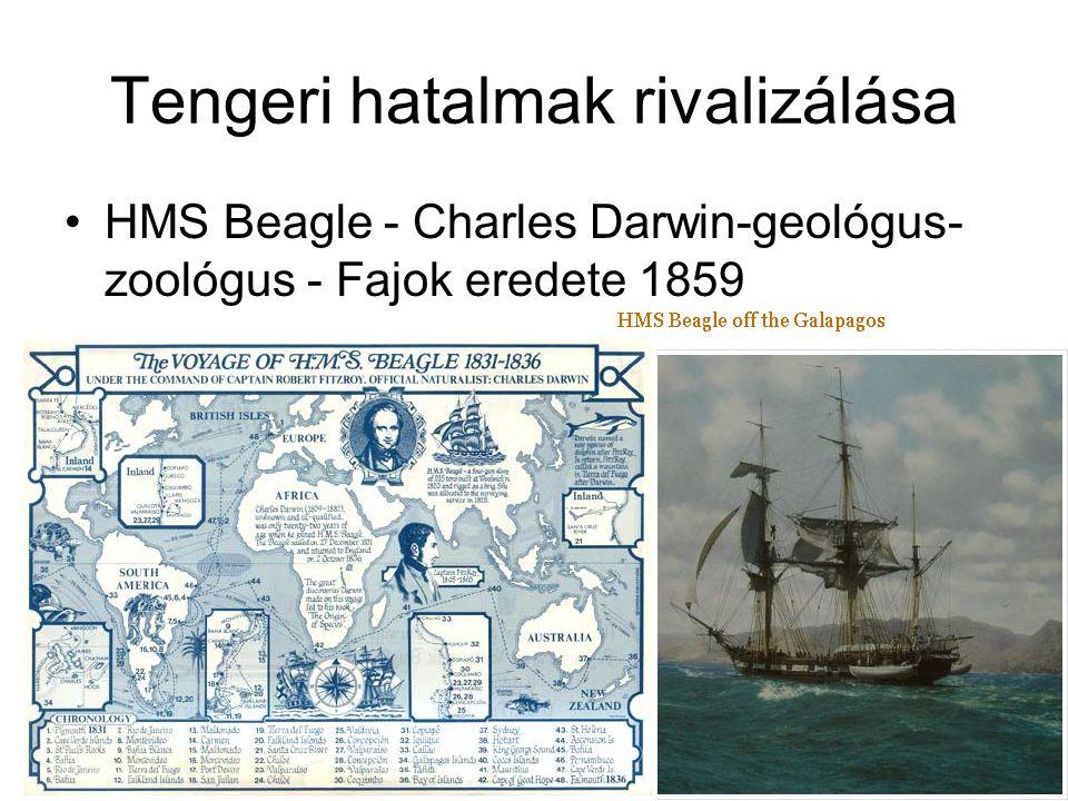 Tengeri hatalmak rivalizálása HMS Beagle - Charles Darwin-geológus- zoológus - Fajok eredete 1859