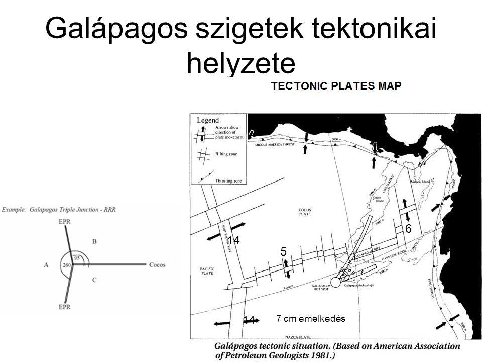 Galápagos szigetek tektonikai helyzete 14 5 6 7 cm emelkedés