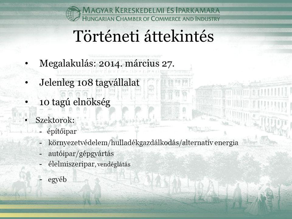 Történeti áttekintés Megalakulás: 2014. március 27.