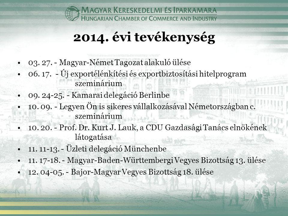 2014. évi tevékenység 03. 27. - Magyar-Német Tagozat alakuló ülése 06.