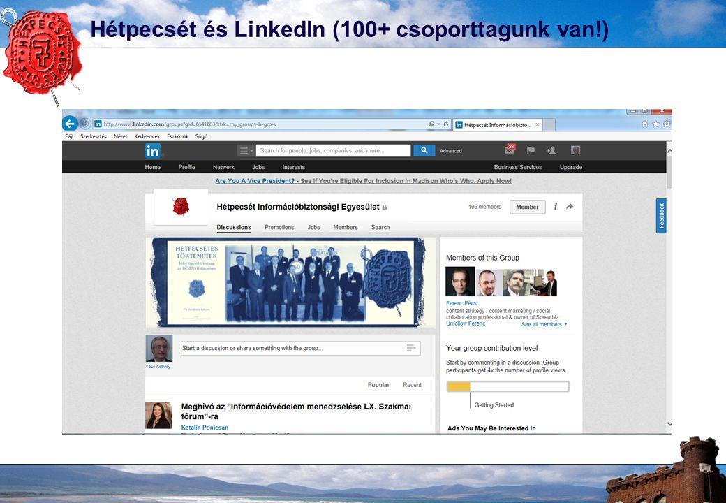 Hétpecsét és LinkedIn (100+ csoporttagunk van!)