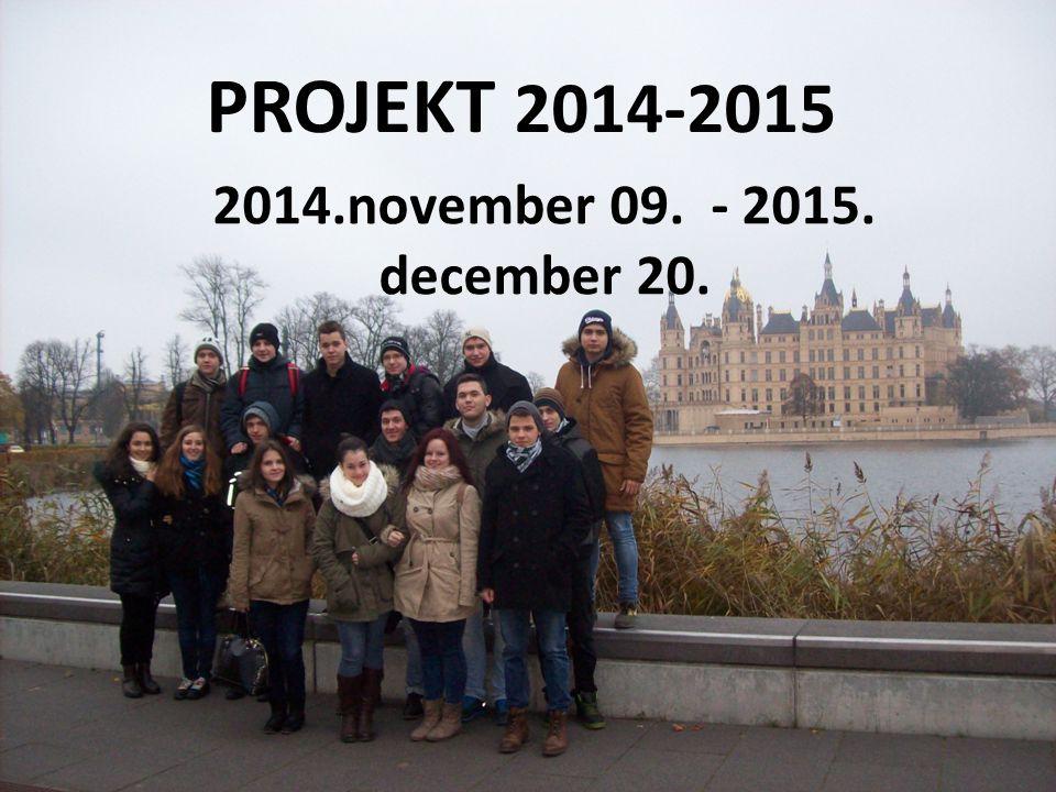 PROJEKT 2014-2015 2014.november 09. - 2015. december 20.