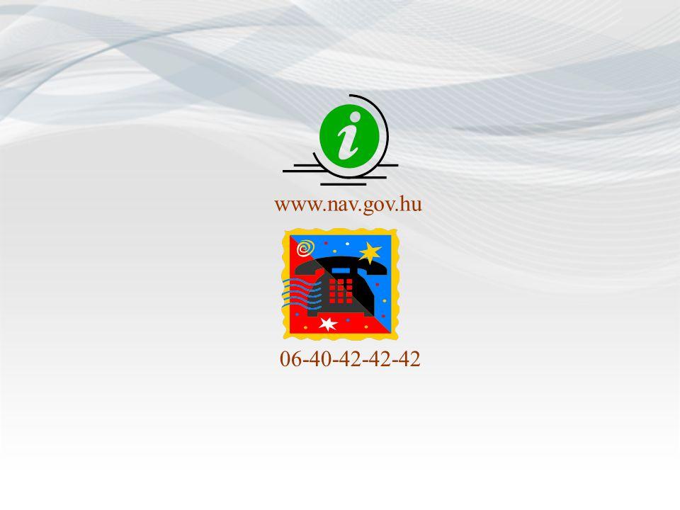 www.nav.gov.hu 06-40-42-42-42