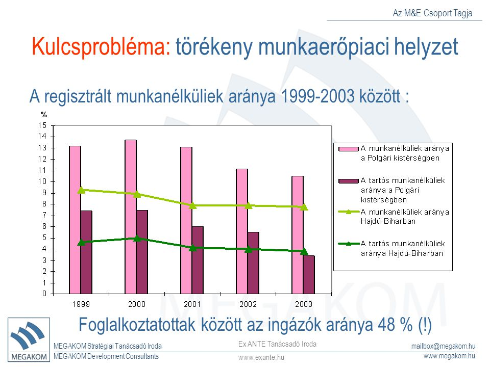 Az M&E Csoport Tagja MEGAKOM Stratégiai Tanácsadó Iroda www.megakom.hu MEGAKOM Development Consultants mailbox@megakom.hu Kulcsprobléma: törékeny munk