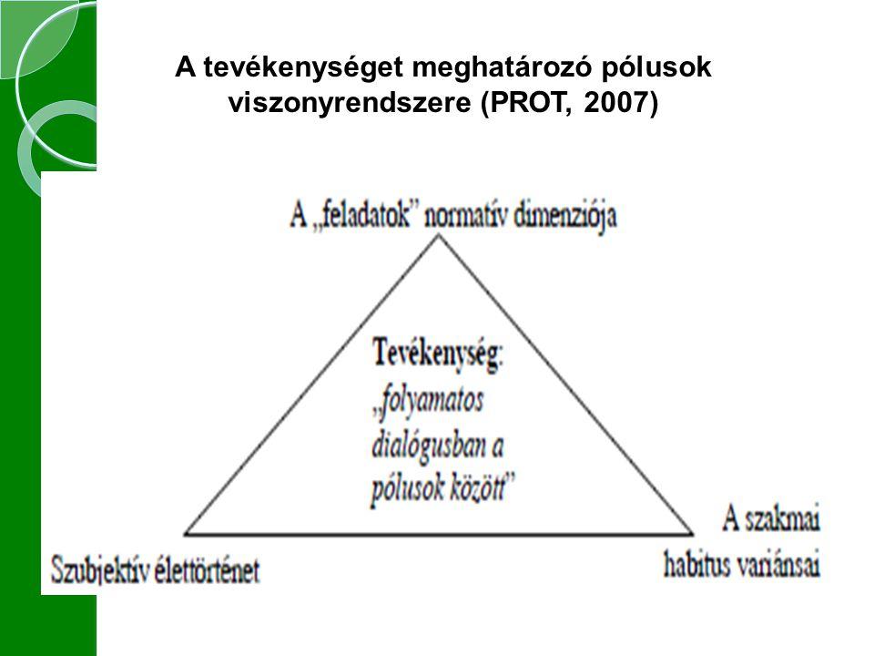 A tevékenységet meghatározó pólusok viszonyrendszere (PROT, 2007)
