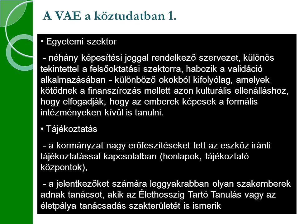 A VAE a köztudatban 1.