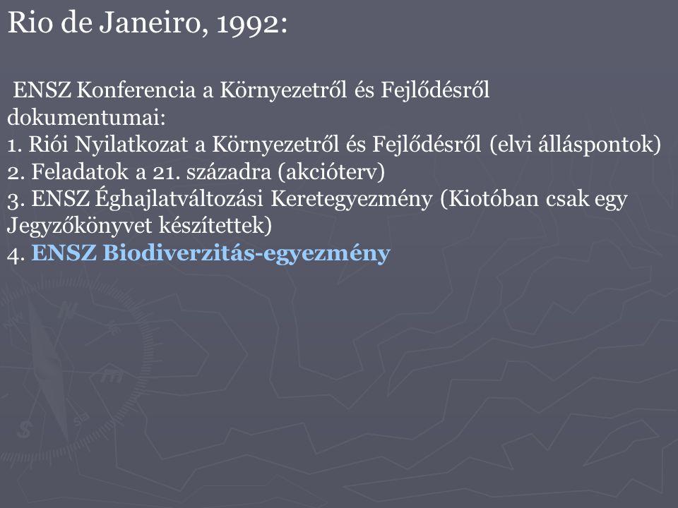 Rio de Janeiro, 1992: ENSZ Konferencia a Környezetről és Fejlődésről dokumentumai: 1. Riói Nyilatkozat a Környezetről és Fejlődésről (elvi álláspontok
