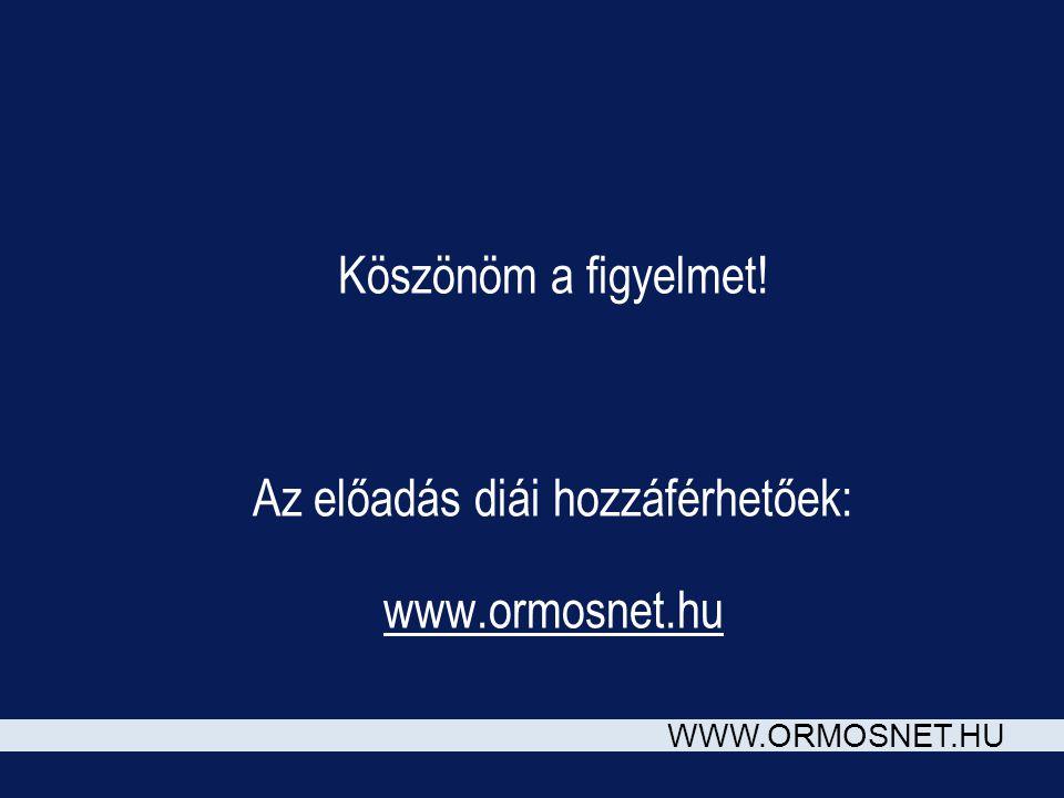 WWW.ORMOSNET.HU Köszönöm a figyelmet! Az előadás diái hozzáférhetőek: www.ormosnet.hu