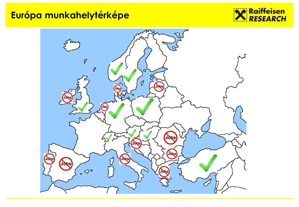 Európa munkahelytérképe