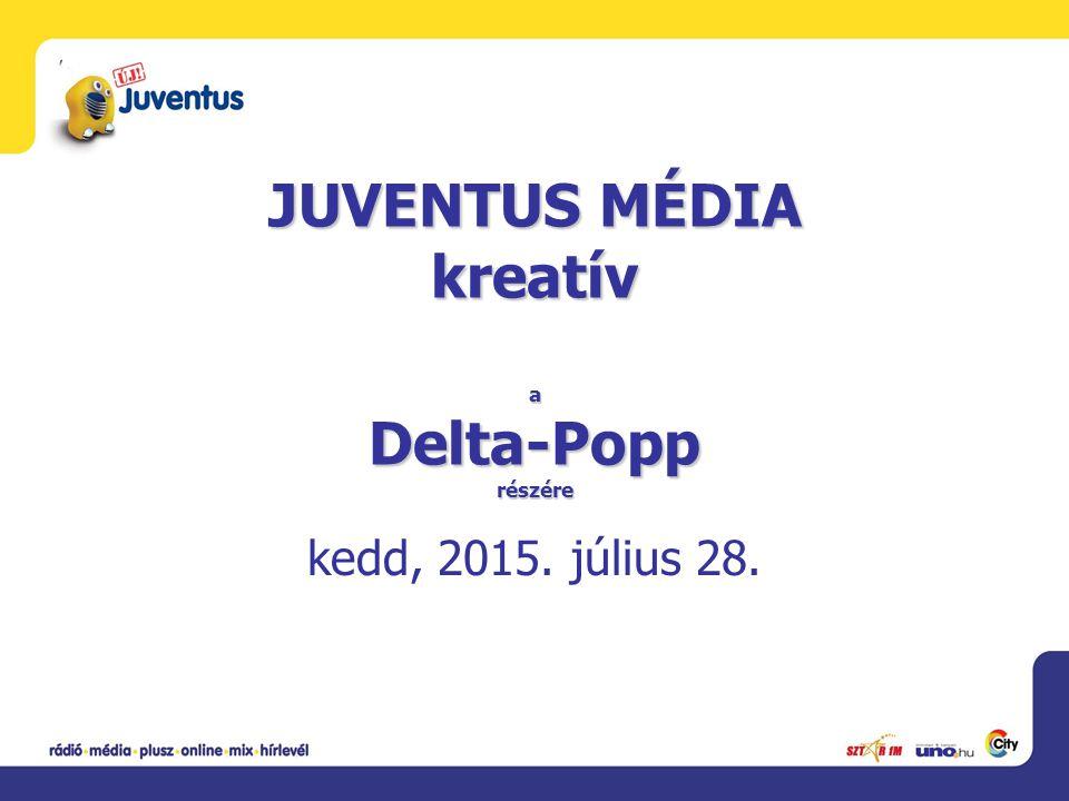 JUVENTUS MÉDIA kreatív a Delta-Popp részére kedd, 2015. július 28.