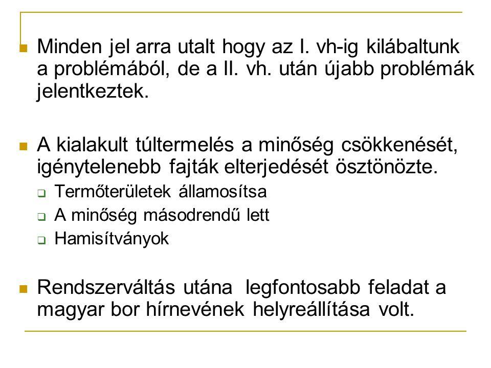 Magyar borok és borvidékek Magyarországon jelenleg több mint 140 szőlőfajta van.