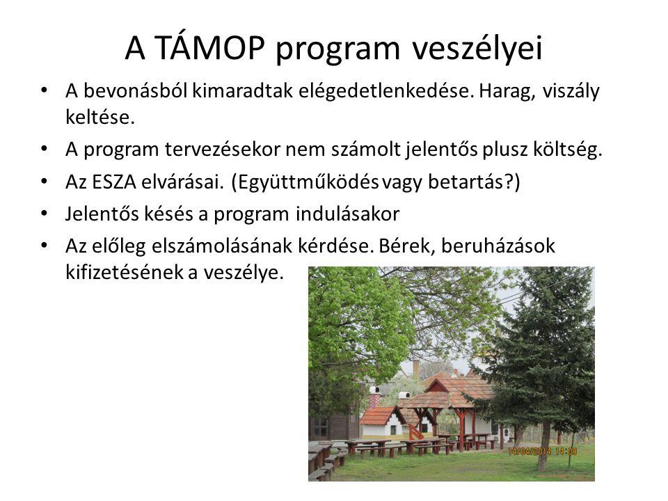 A TÁMOP program veszélyei A bevonásból kimaradtak elégedetlenkedése.