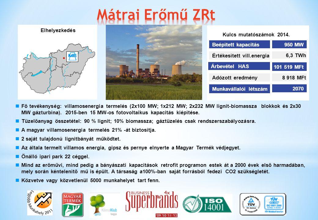 Fő tevékenység: villamosenergia termelés (2x100 MW; 1x212 MW; 2x232 MW lignit-biomassza blokkok és 2x30 MW gázturbina). 2015-ben 15 MW-os fotovoltaiku