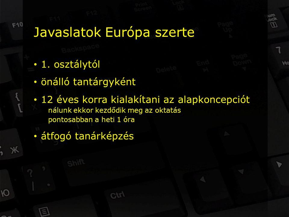 Javaslatok Európa szerte 1.