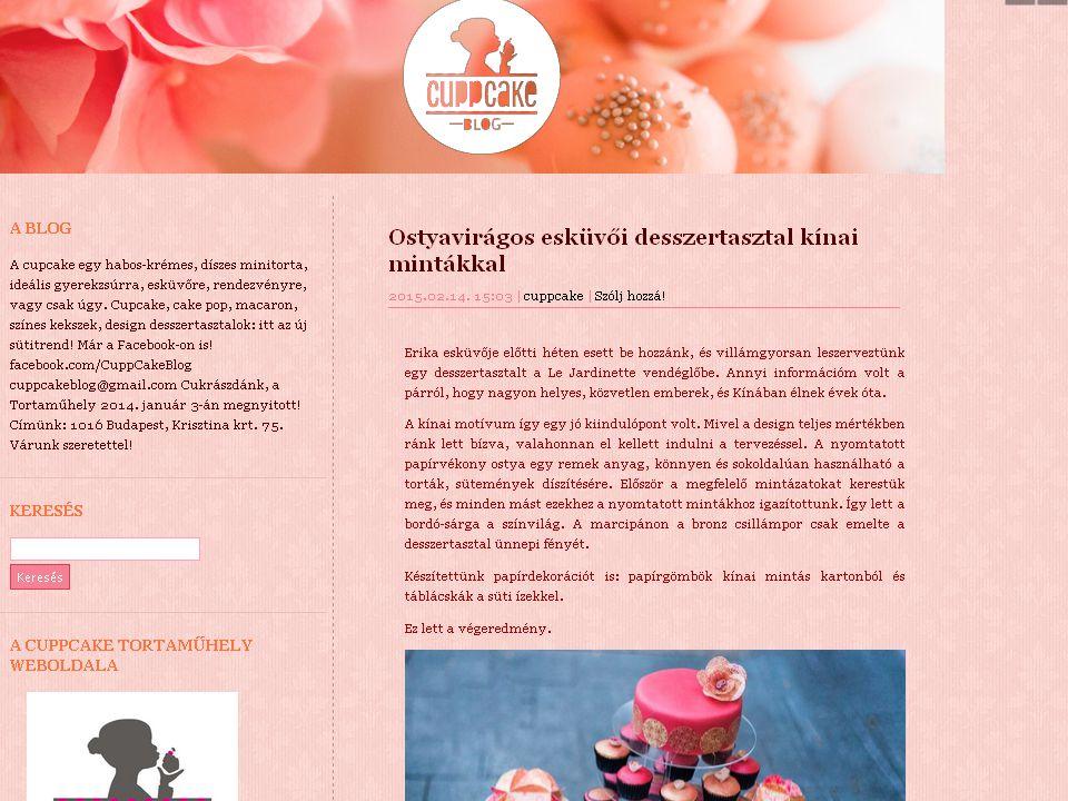  Saját egyedi receptek  Hozzávalók, elkészítés történetek nélkül  5-7 naponta 1-1 új recept  Hobbi szintű blog vezetés