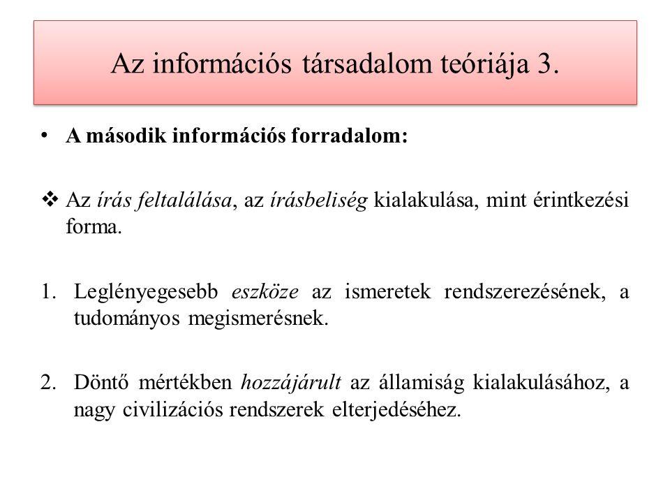 Az információs társadalom teóriája 4.