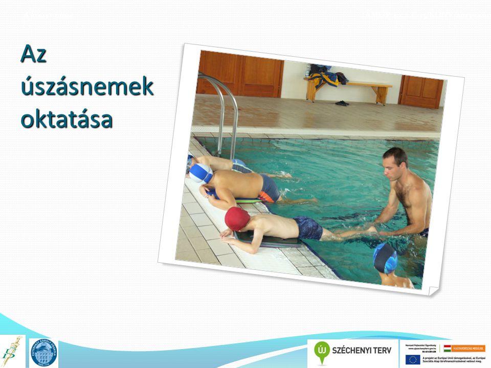 A könyv címe TÁMOP 4.1.2.E-13/KONV-2013-0010 Az úszásnemek oktatása