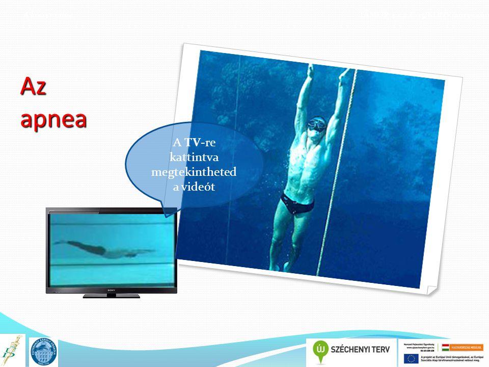 A könyv címe TÁMOP 4.1.2.E-13/KONV-2013-0010 Az apnea A TV-re kattintva megtekintheted a videót