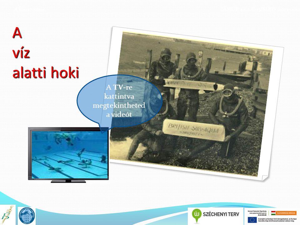 A könyv címe TÁMOP 4.1.2.E-13/KONV-2013-0010 A víz alatti hoki A TV-re kattintva megtekintheted a videót