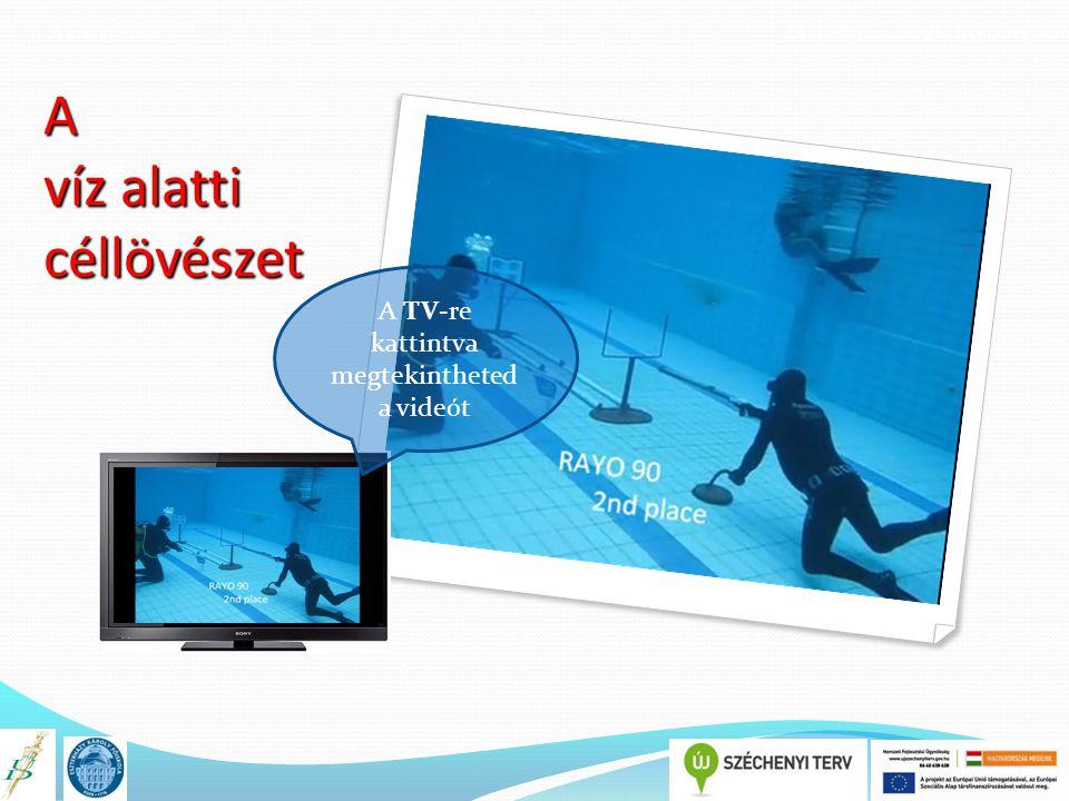 A könyv címe TÁMOP 4.1.2.E-13/KONV-2013-0010 A víz alatti céllövészet A TV-re kattintva megtekintheted a videót