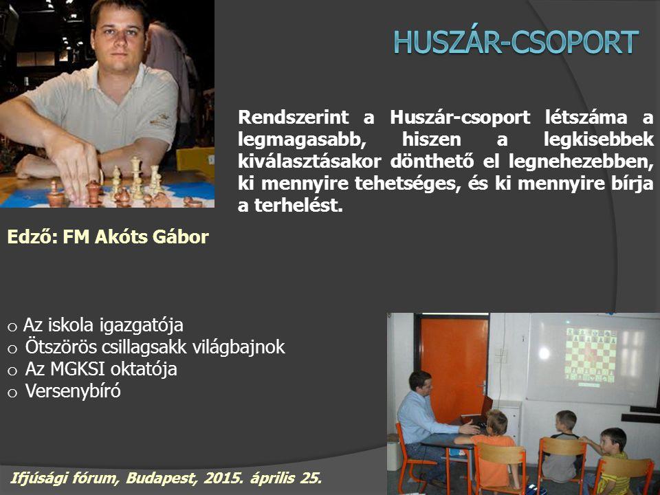 A Bástya-csoport egyfajta szűrőt képvisel, itt gyakorlatilag eldől, hogy kik veszik legkomolyabban a sakkozást.