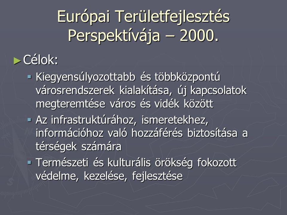 Európai Területfejlesztés Perspektívája – 2000.