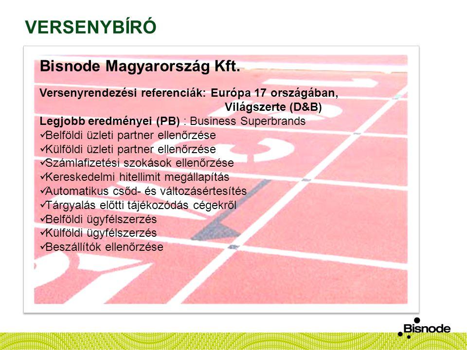 VERSENYBÍRÓ Bisnode Magyarország Kft.