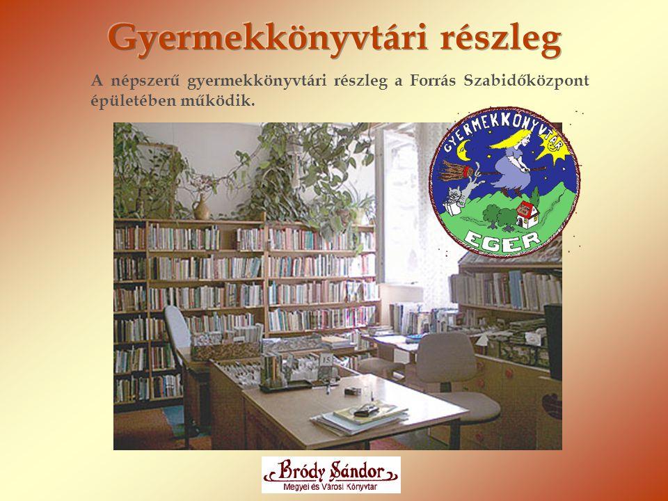 A népszerű gyermekkönyvtári részleg a Forrás Szabidőközpont épületében működik.