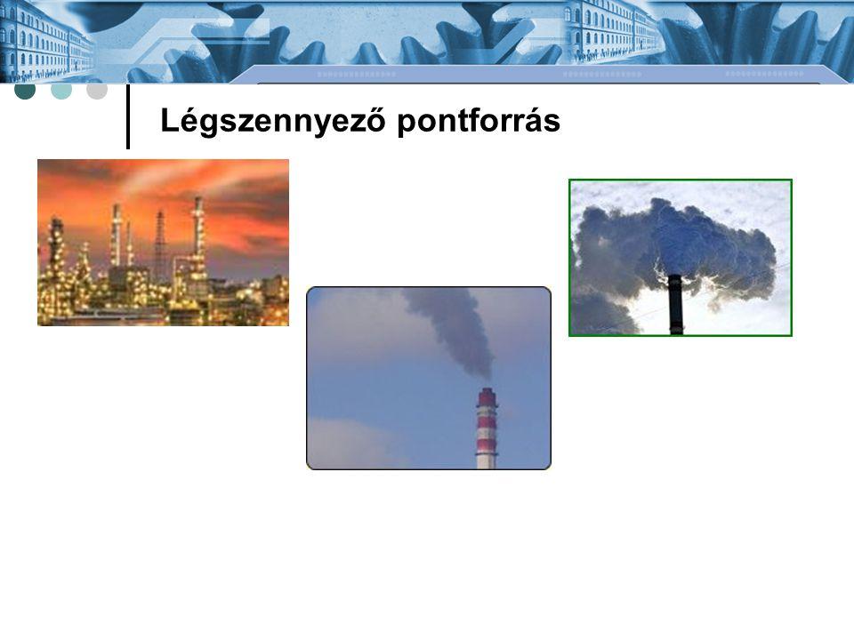 Emissziós határértékek A helyhez kötött légszennyező pontforrás kibocsátási határértéke lehet: technológiai kibocsátási határérték egyedi kibocsátási határérték össztömegű kibocsátási határérték A technológiai kibocsátási határérték fajtái: általános technológiai kibocsátási határérték eljárás specifikus technológiai kibocsátási határérték