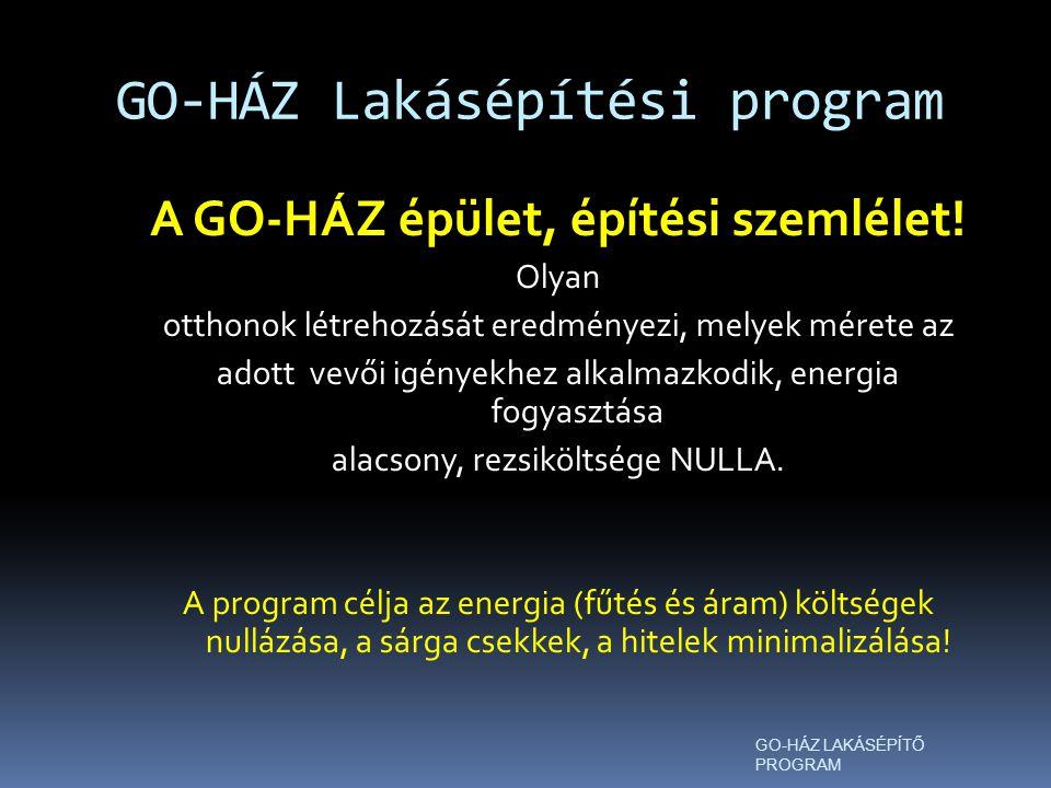 GO-HÁZ Lakásépítési program GO-HÁZ LAKÁSÉPÍTŐ PROGRAM