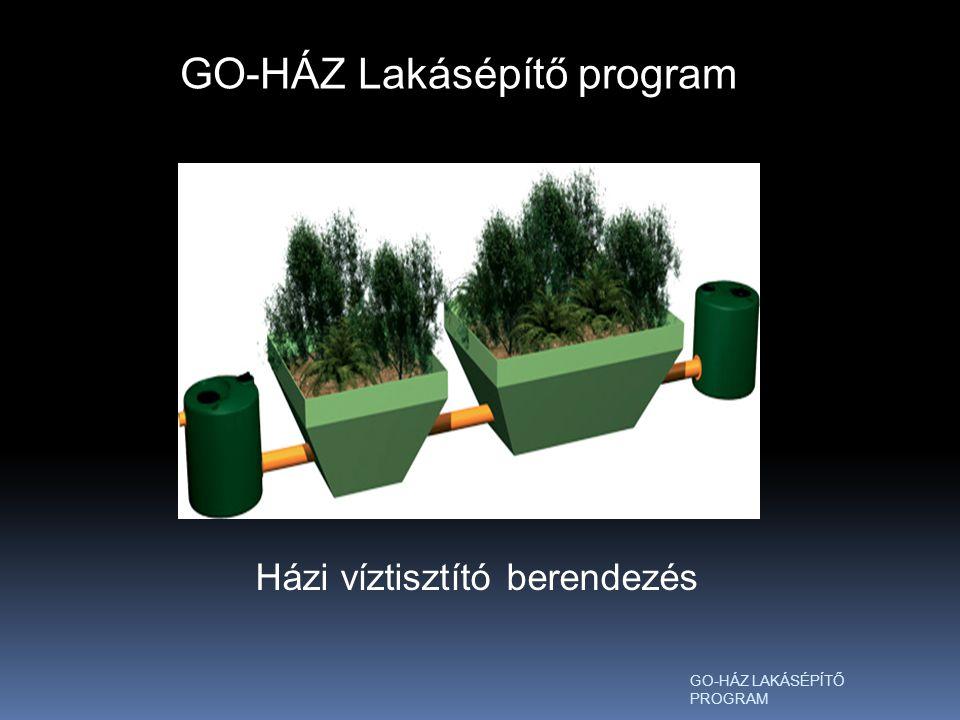 GO-HÁZ Lakásépítő program Házi víztisztító berendezés
