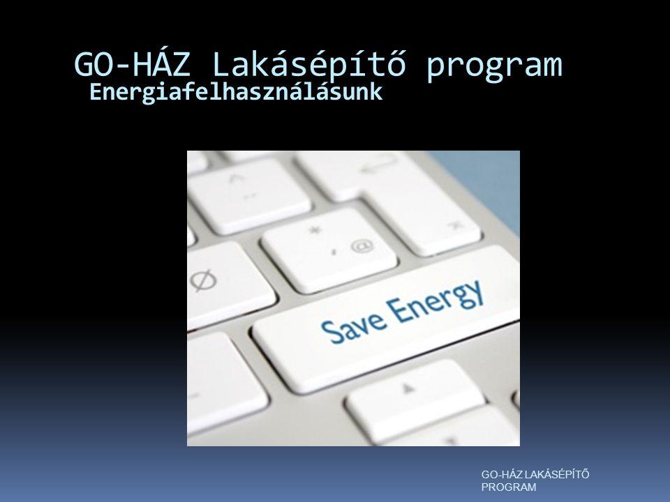 Energiafelhasználásunk GO-HÁZ Lakásépítő program GO-HÁZ LAKÁSÉPÍTŐ PROGRAM
