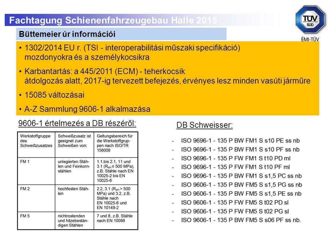 15 1302/2014 EU r.