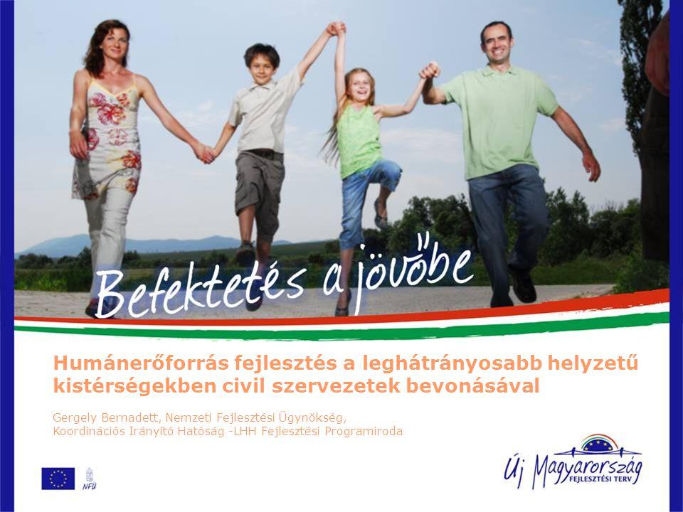 Jellemzők -A 33 kistérségben él az ország lakosságának tizede -A leghátrányosabb helyzetű kistérségekben élők aránya régiónként: 1.Észak-Magyarországon 28%, 2.Észak-Alföldön 21%, 3.Dél-Dunántúlon 18%, 4.Dél-Alföldön 9%.