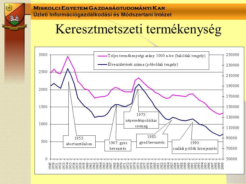 Miskolci Egyetem Gazdaságtudományi Kar Üzleti Információgazdálkodási és Módszertani Intézet Keresztmetszeti termékenység