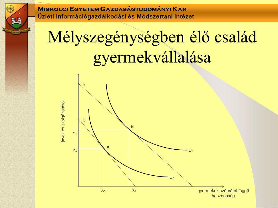 Miskolci Egyetem Gazdaságtudományi Kar Üzleti Információgazdálkodási és Módszertani Intézet Mélyszegénységben élő család gyermekvállalása