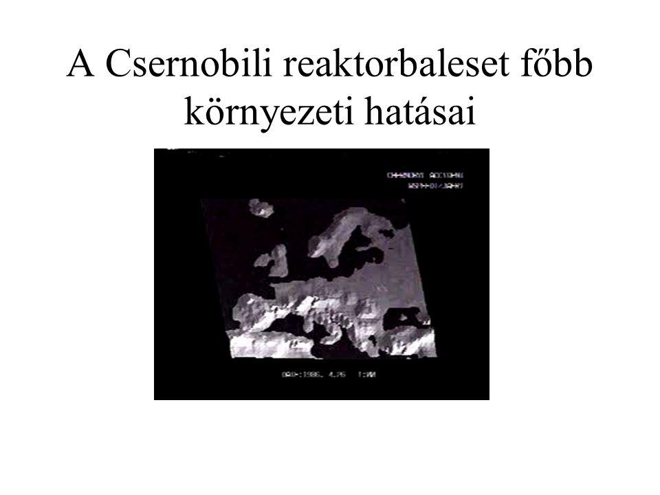 A Csernobili reaktorbaleset főbb környezeti hatásai