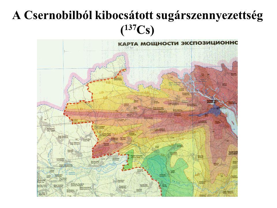 A Csernobilból kibocsátott sugárszennyezettség ( 137 Cs)