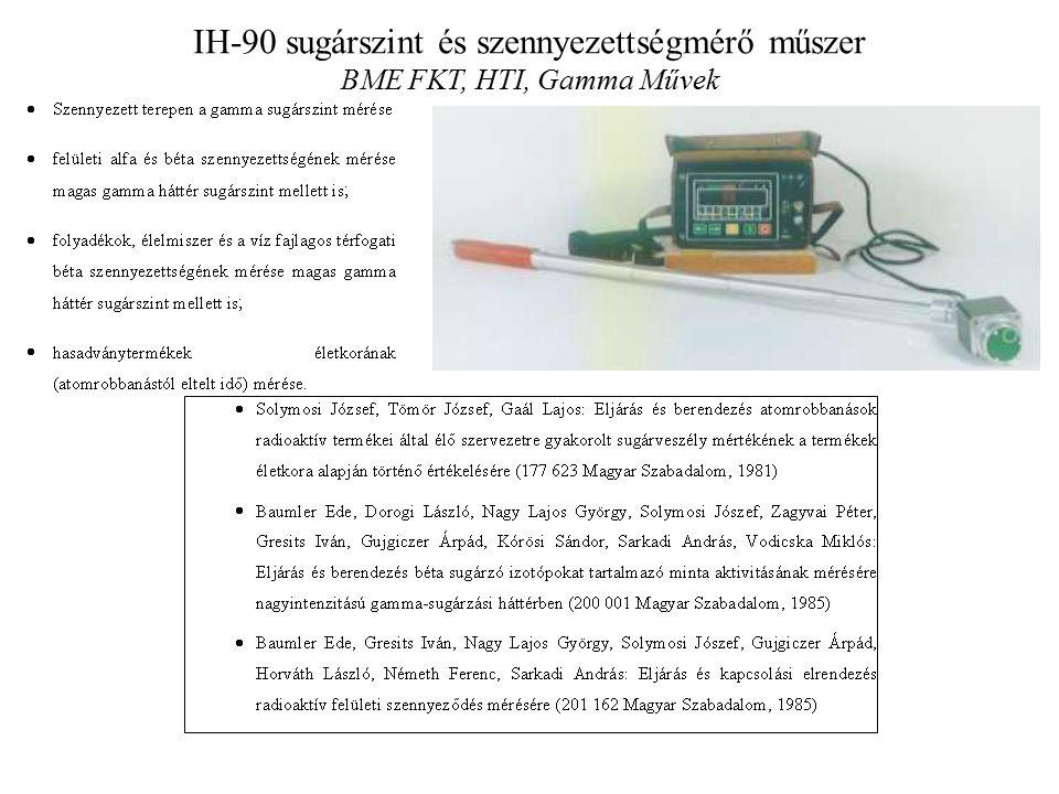 IH-90 sugárszint és szennyezettségmérő műszer BME FKT, HTI, Gamma Művek