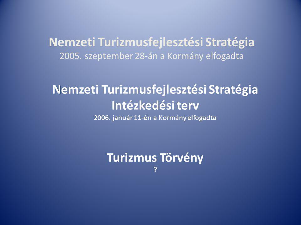 N Nemzeti Turizmusfejlesztési Stratégia Intézkedési terv 2006.