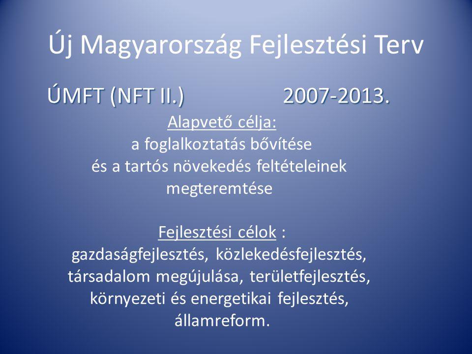Új Magyarország Fejlesztési Terv ÚMFT (NFT II.) 2007-2013.