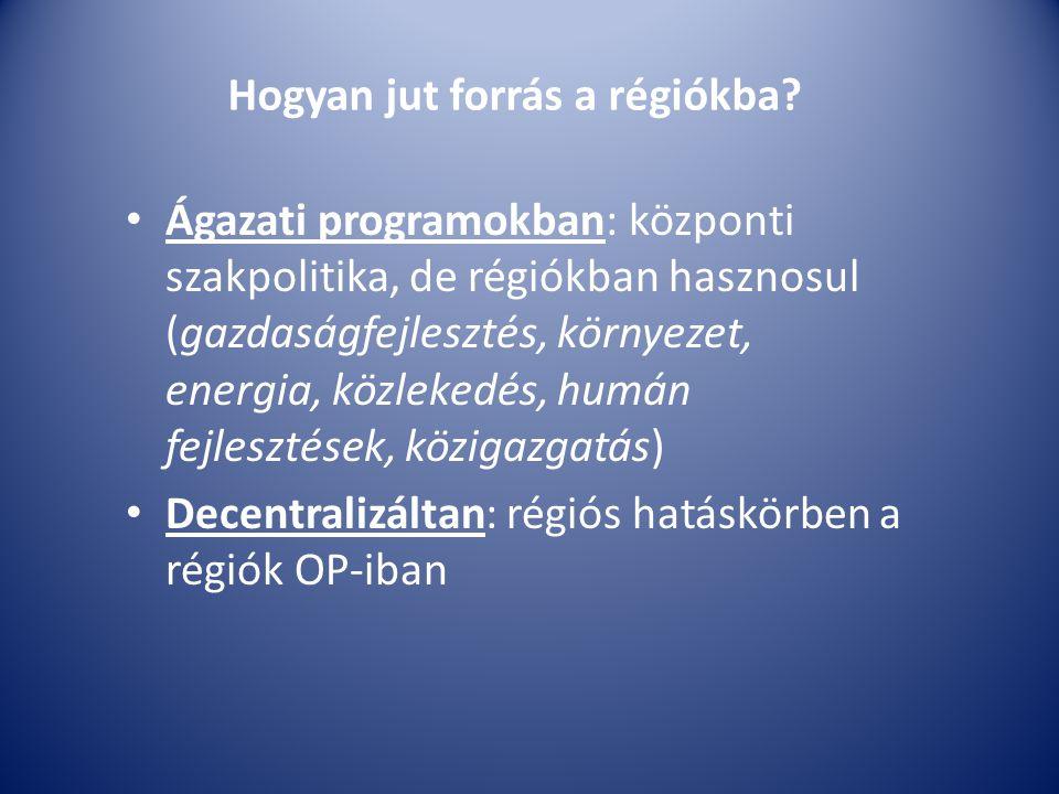Hogyan jut forrás a régiókba.