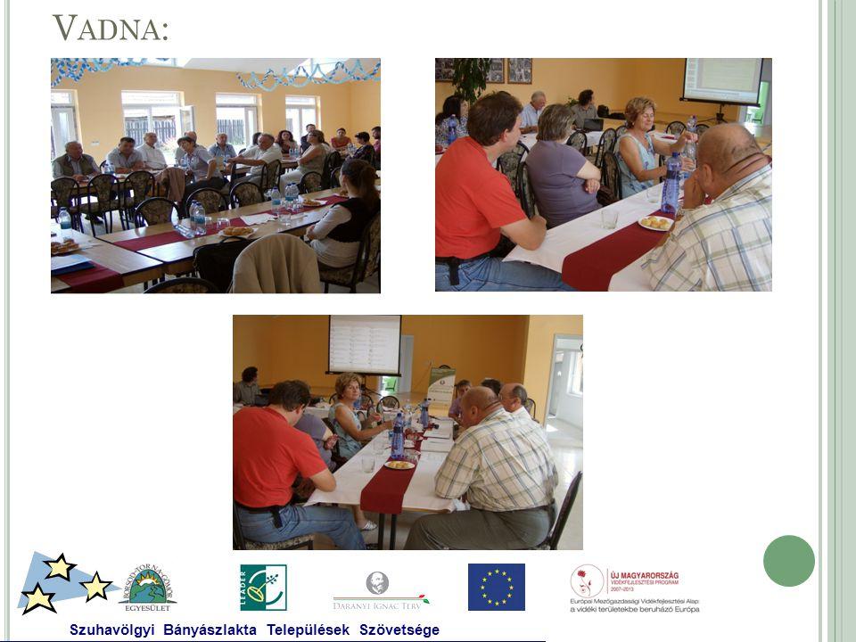 V ADNA : Szuhavölgyi Bányászlakta Települések Szövetsége