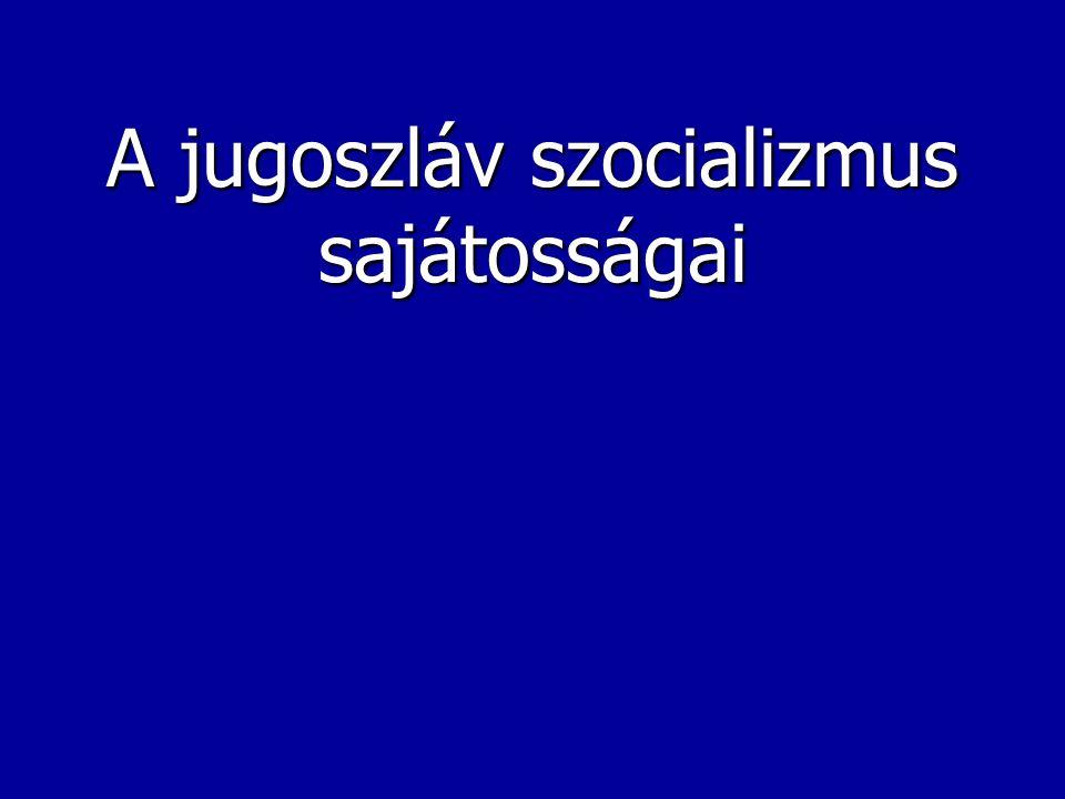Földrajzi probléma Létezik-e olyan erős - részben demokratikus, részben centralizált -, minden balkáni nemzet számára hosszútávon megfelelő politikai- gazdasági-társadalmi berendezkedés, amely a sokszínű mozaikból egységet kovácsolna.