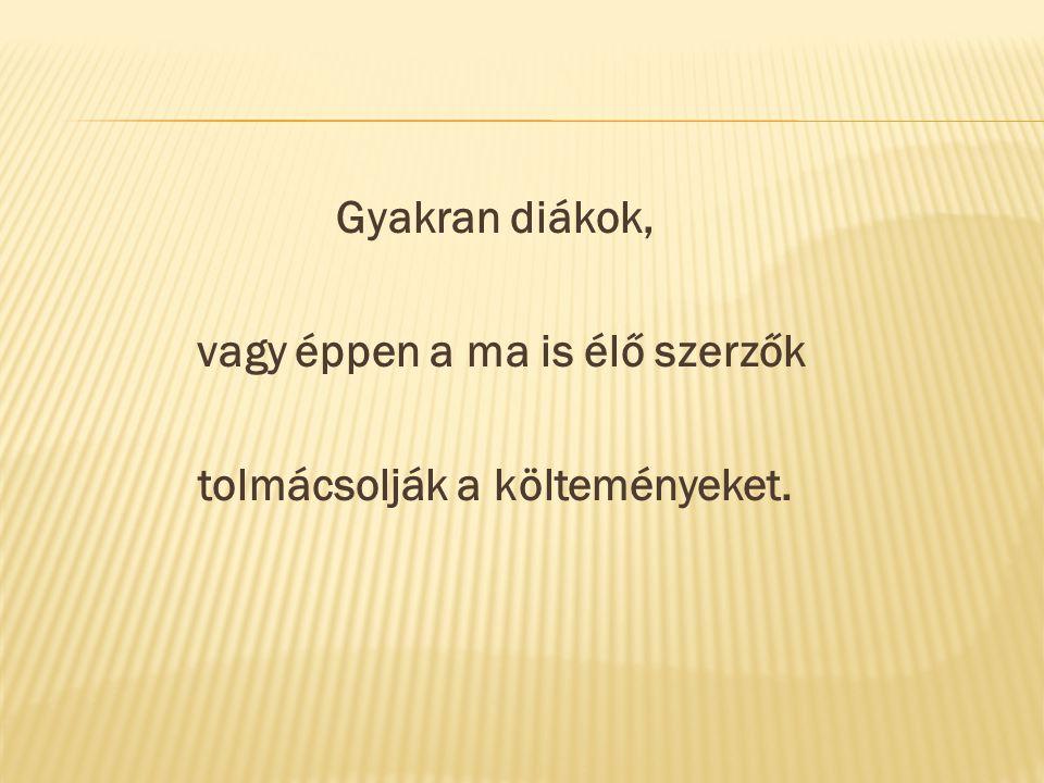 2015- ben a Nagybalogi Alapiskola hagyományteremtő szándékkal első ízben csatlakozik a Szlovákiai Magyar Pedagógusszövetség által meghirdetett magyar költészet napjának megünnepléséhez.