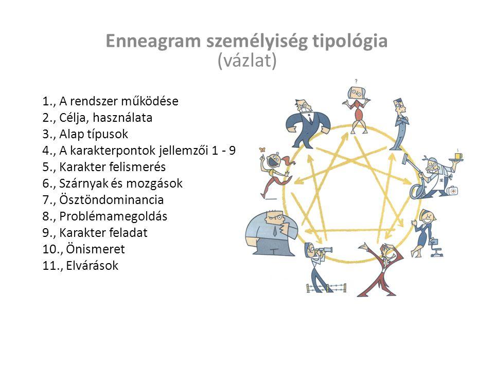 Működés Az Enneagram kilenc alapvető személyiségtípust ír le részletesen és nagy pontossággal, és egy dinamikus rendszerbe foglalja őket.