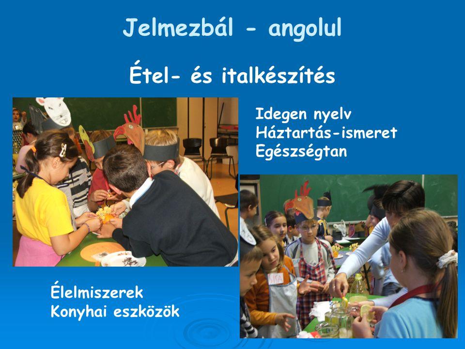 Jelmezbál - angolul Étel- és italkészítés Idegen nyelv Háztartás-ismeret Egészségtan Élelmiszerek Konyhai eszközök