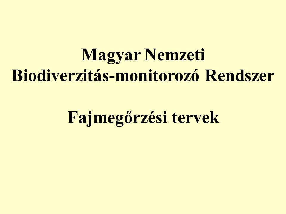 Magyar Nemzeti Biodiverzitás-monitorozó Rendszer Fajmegőrzési tervek