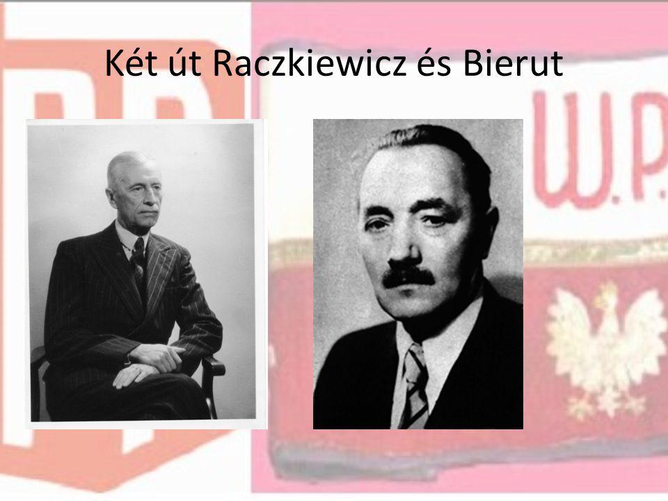 Két út Raczkiewicz és Bierut